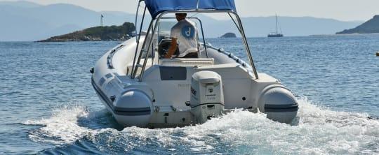 Rib boats in Skiathos