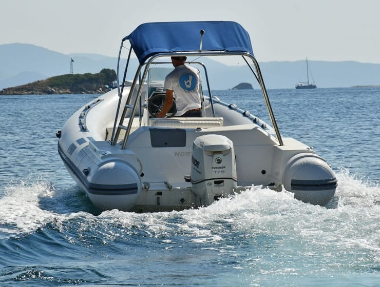 Rib boats in Skiathos
